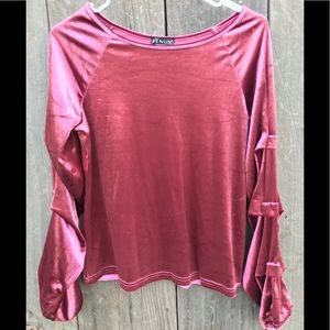 Pink Velvet Blouse